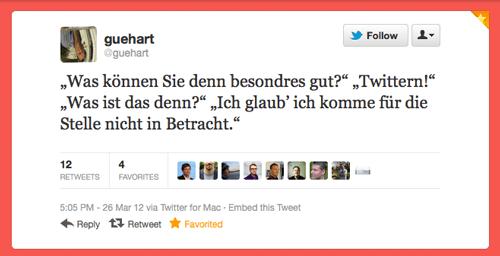 Tweet der Woche von @guehart