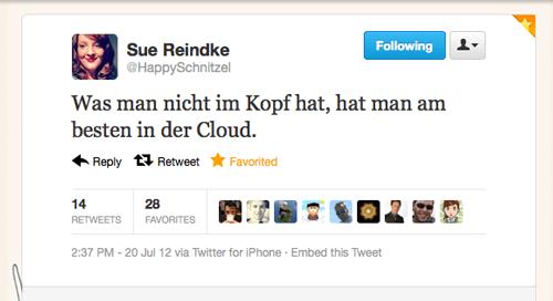 «Tweet der Woche» von @HappySchnitzel