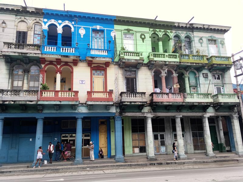Hauszeile in Havanna