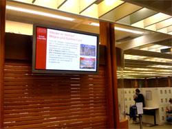 Infoscreen im Foyer der Stabi
