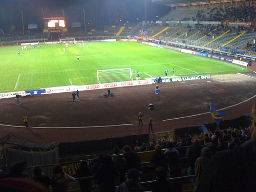 Blick aus der Virage Est (E-Block) ins Ludwigsparkstadion, 20.11.09 gegen Bonner SC
