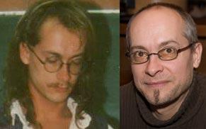 Zwischen diesen Fotos von mir liegen 20 Jahre: links 1989, rechts 2009
