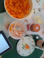 frische Papaya mit Naturjogurt