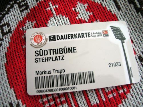 St. Pauli Dauerkarte 08/09