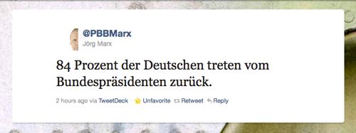 Tweet der Woche von @pbbmarx