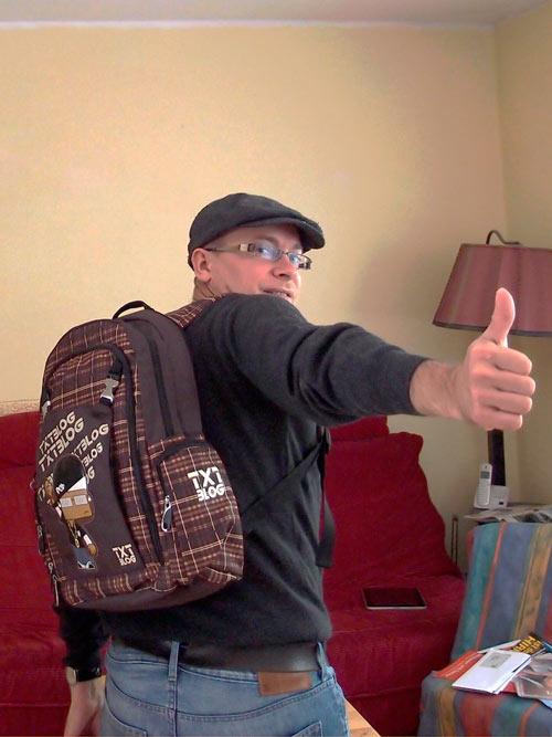 Mein neuer Rucksack - Danke Isa & Axel!
