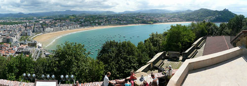 San Sebastián: Blick auf die Bahía de la Concha