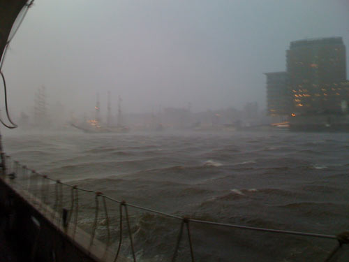 Der Sturm zog auf, die Elbe wurde rau