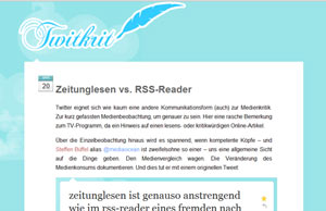 Zeitunglesen vs. RSS-Reader