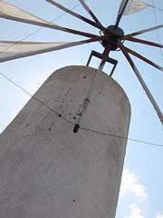 Quijote im Kampf gegen die Windmühlen
