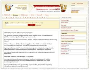 Woxikon - Synonymwörterbuch