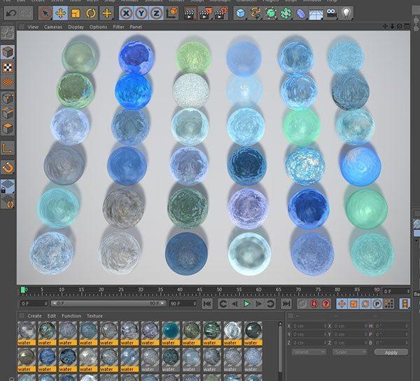 free cinema 4d liquid materials