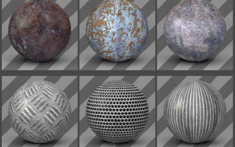 free cinema 4d textures - metal textures 05