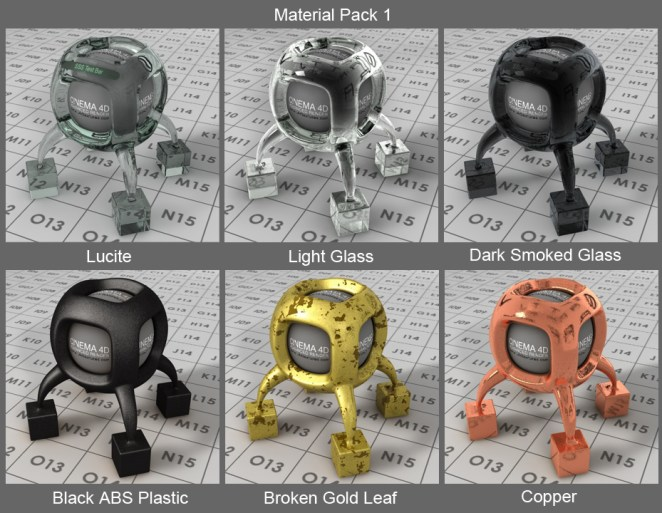 free cinema 4d material pack 1