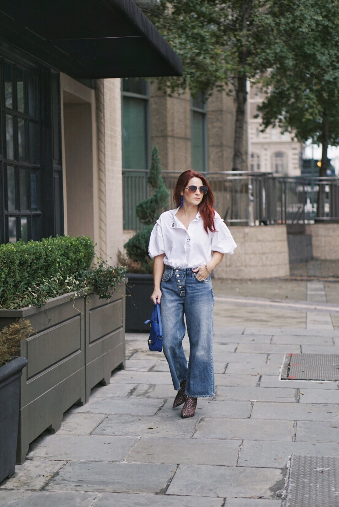 culottes, wide leg pants, puff sleeves, casual style