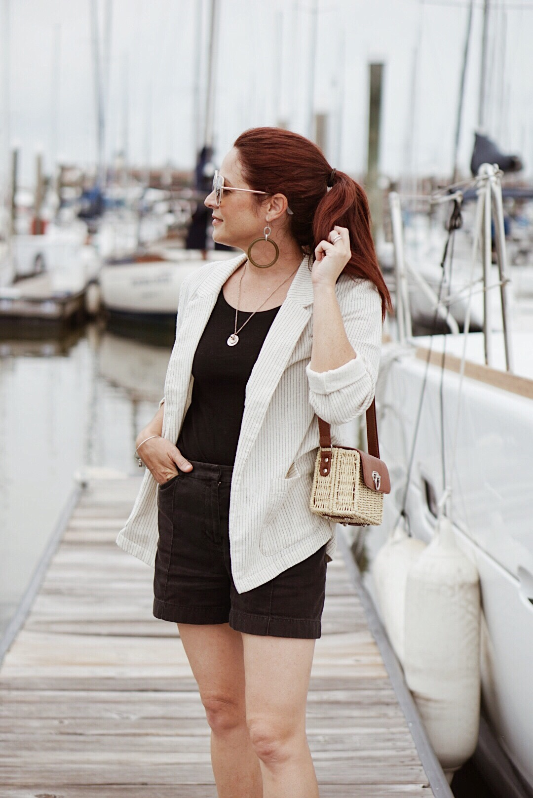 casual style, styling with blazers, linen blazers, style inspiration, nautical style