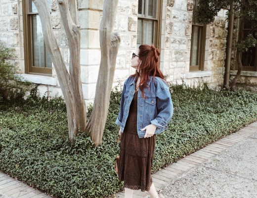 books to read, Netflix shows to watch, denim jacket, brown sundresses, wedges, red hair inspiration, Fredericksburg, Texas, libraries