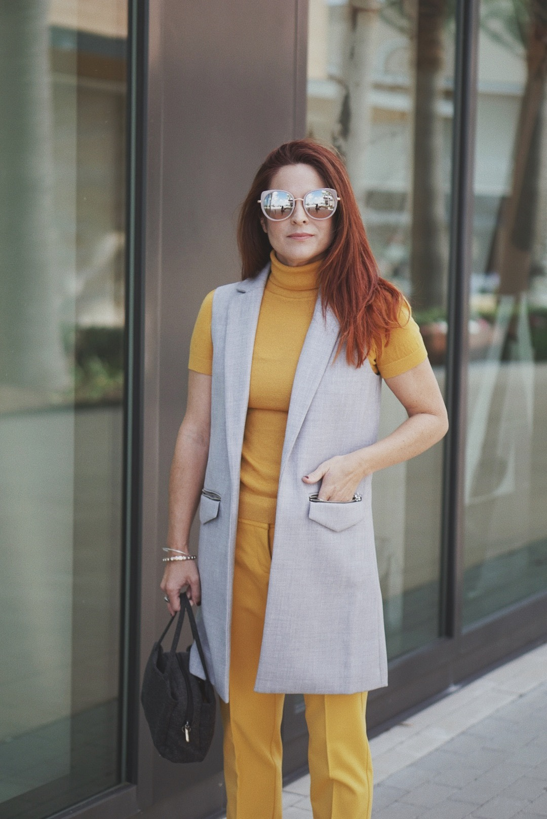 yellow outfit inspiration, how to style yellow, monochrome looks