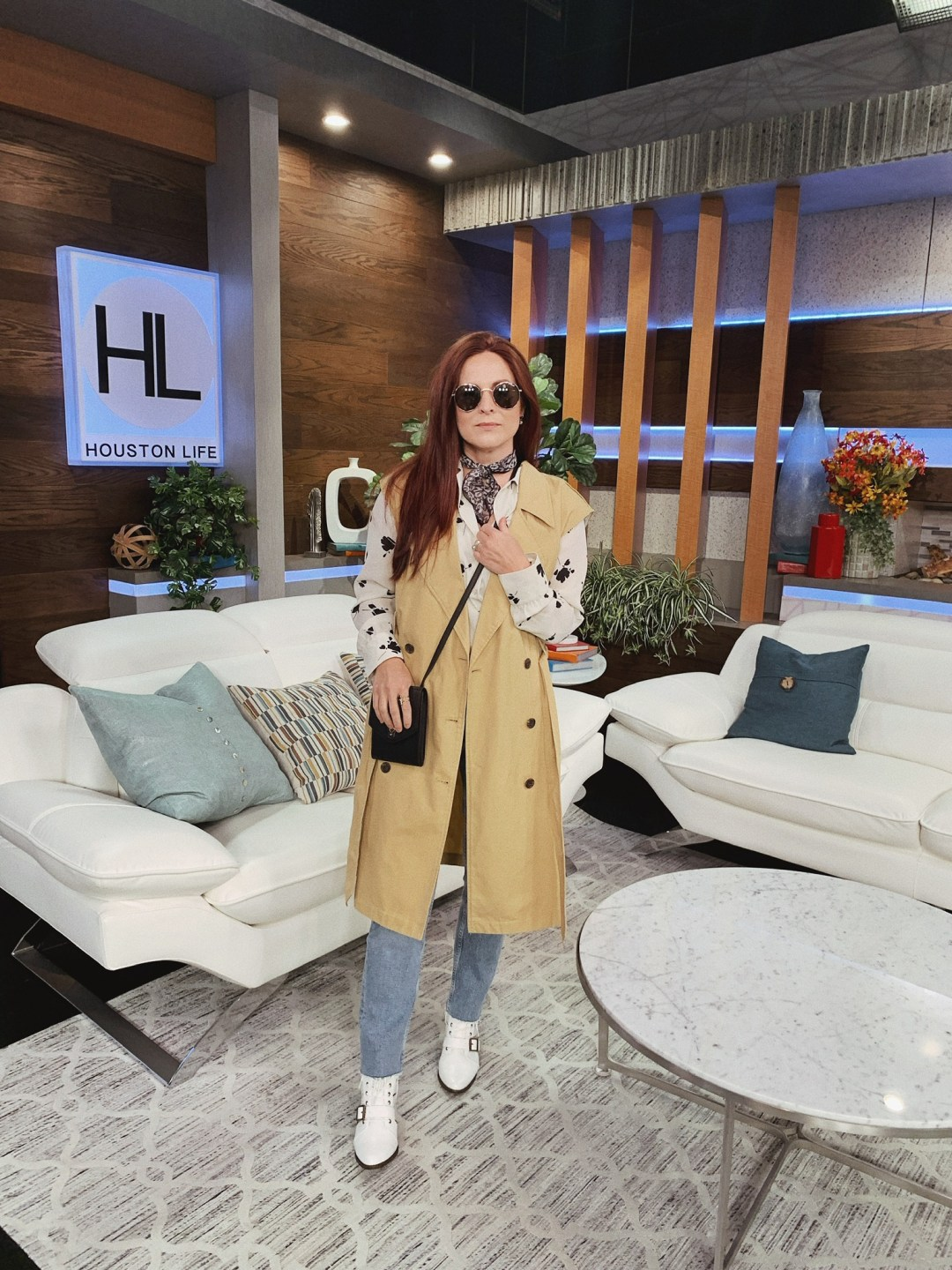 international travel outfit, classic pieces, trench coat outfits, how to style white booties