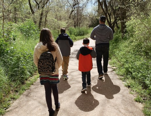 family activities, nature walks, exploring ideas with the family. where to explore in Texas, family time