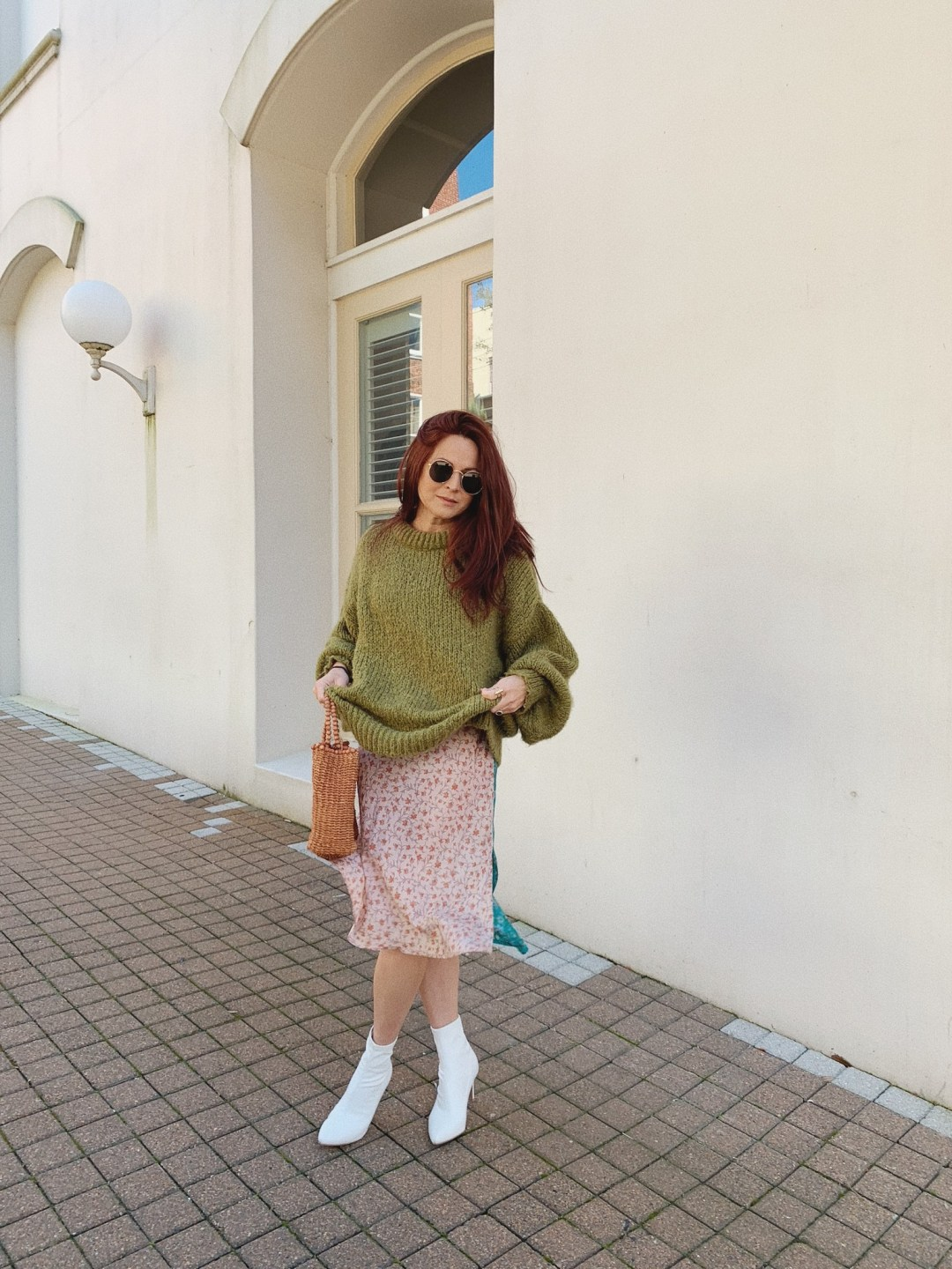sweater and dress combinations, sock bootie outfits, zara sweaters, thrifted clothing