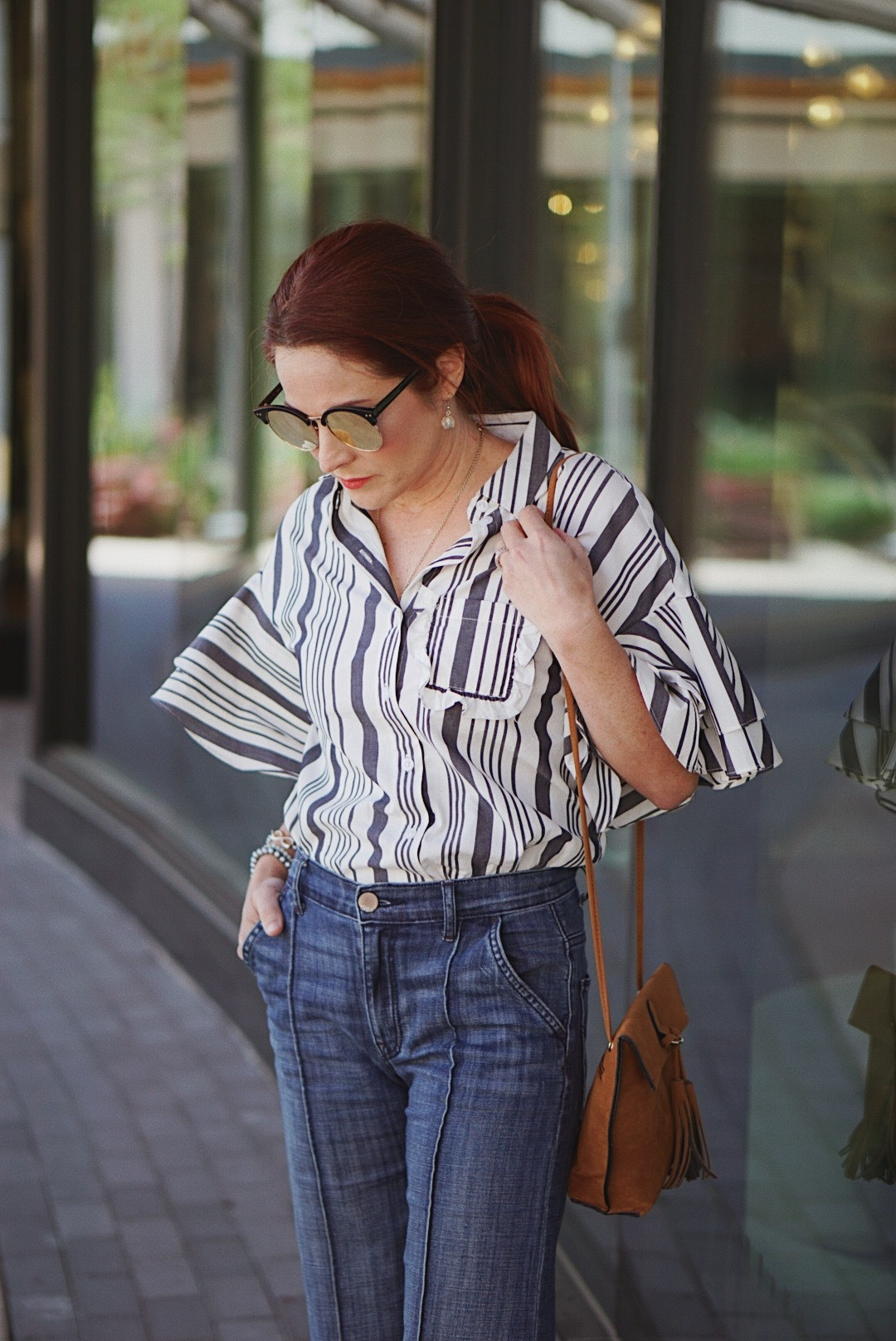 spring outfit ideas, casual style, wide leg jean outfits, jeans with wide leg flare