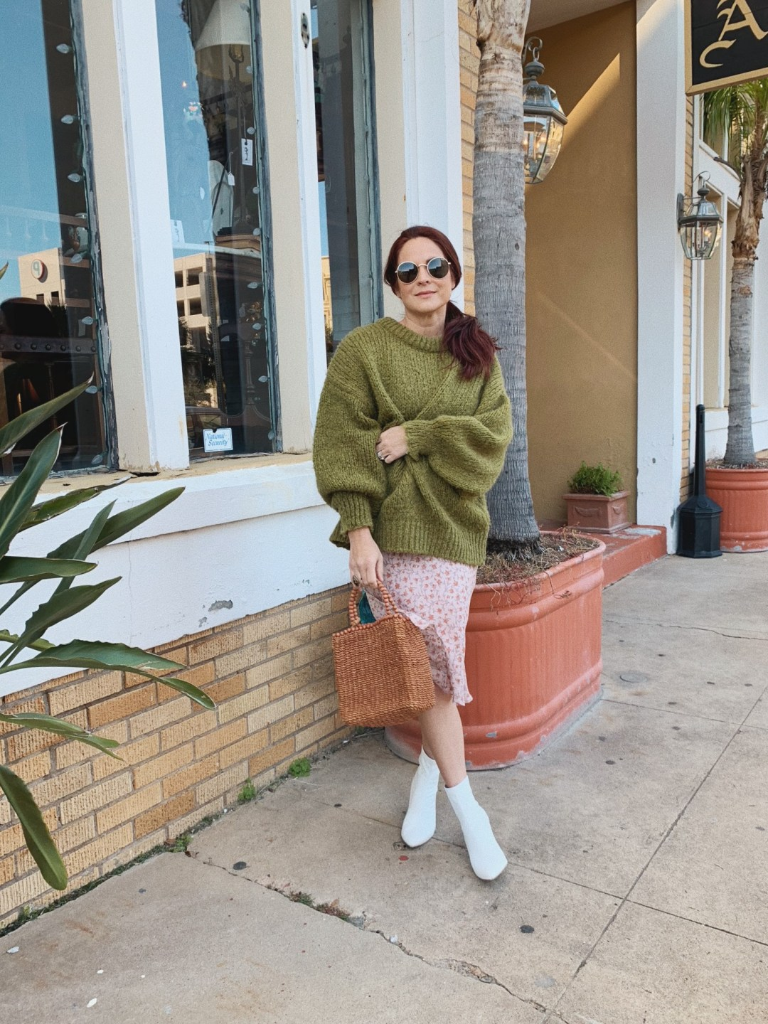 spring brunch outfits, spring outfits, dresses with a sweater ideas, boots