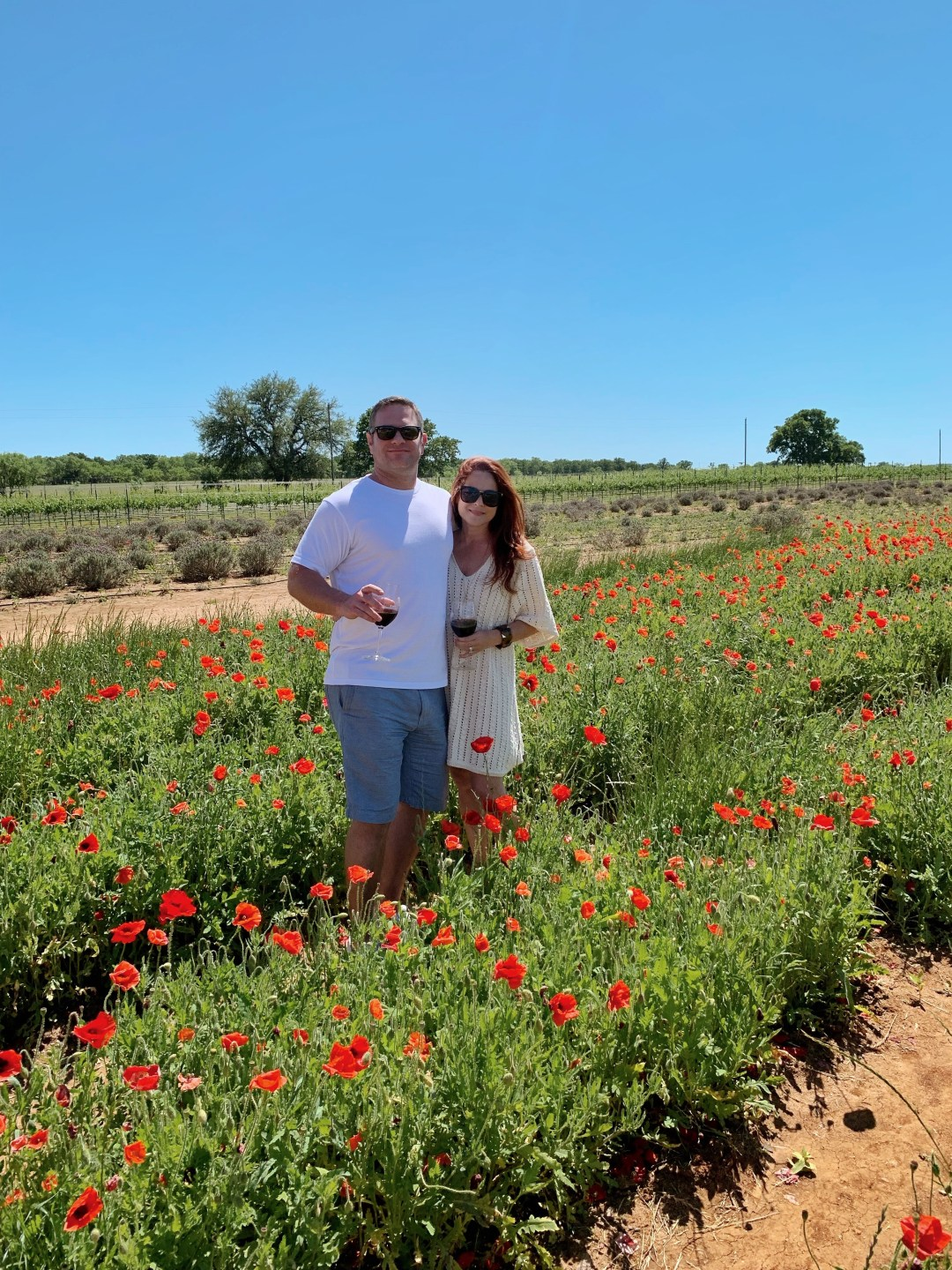 texas wineries, couple weekend trip ideas, wineries in Texas, Hill Country, red poppies