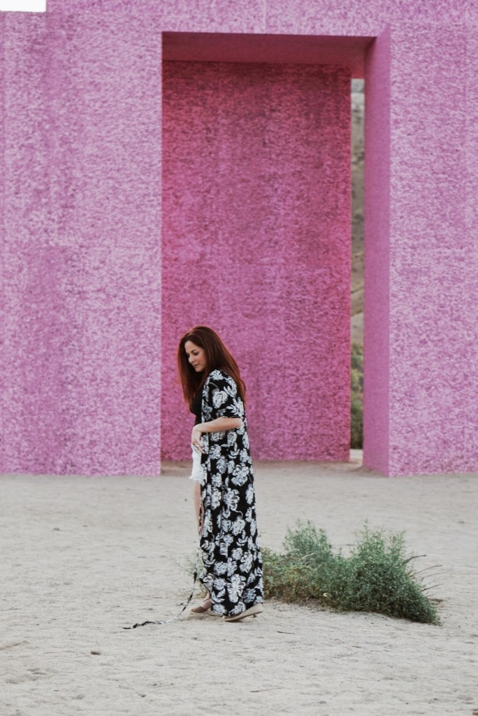 scenic photos in Palm Springs, floral dresses