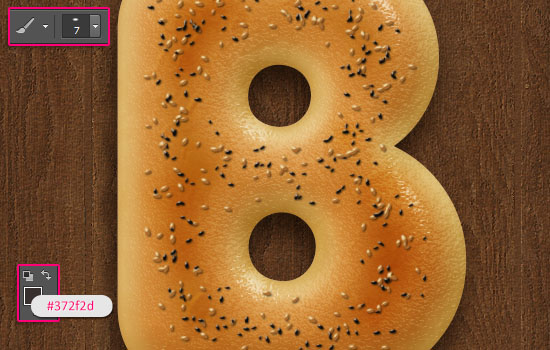 Delicious Bagels Text Effect step 13
