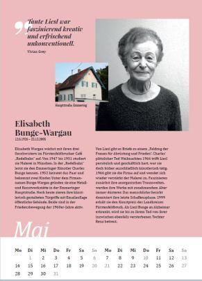 Kalenderblatt Mai: Frauen im Landkreis Fürstenfeldbruck