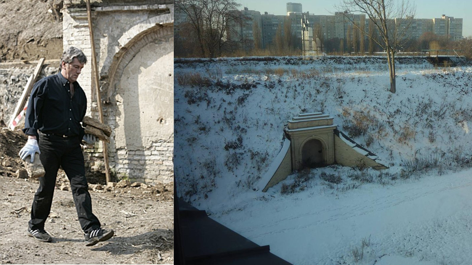 Під валом цитаделі є багато потерн – підземних кам'яних споруд. У розчистці і реставрації потерни позаду Мистецького арсеналу брав участь особисто Віктор Ющенко.
