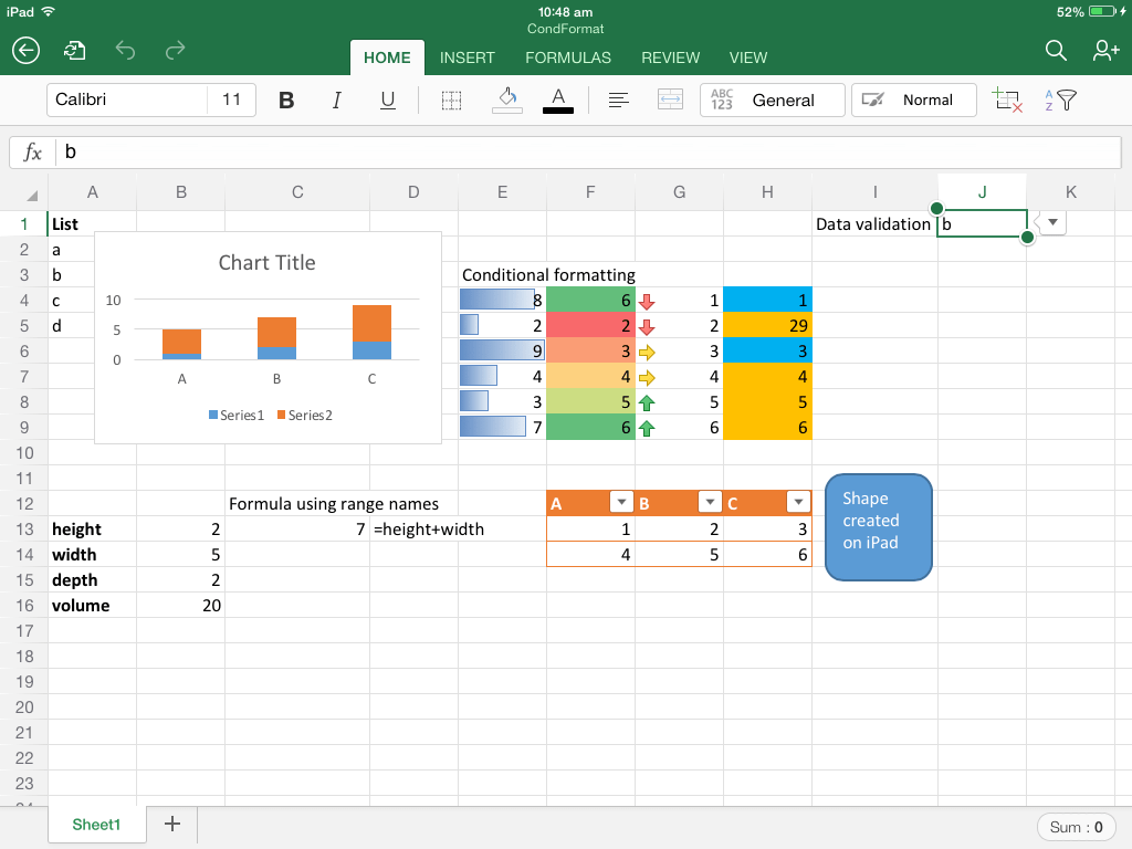 Office For Ipad A First Look At Excel Teylyn