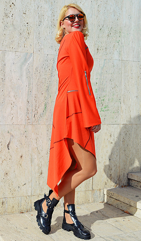 new orange dress