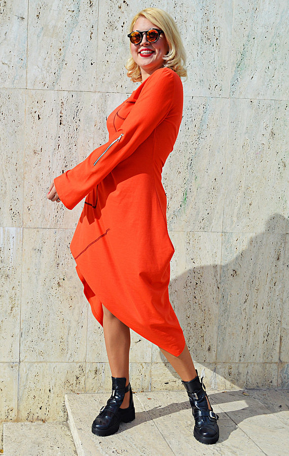 cool orange dress