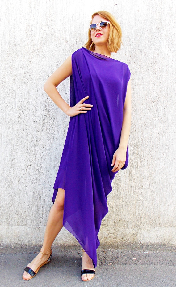 purple party kaftan