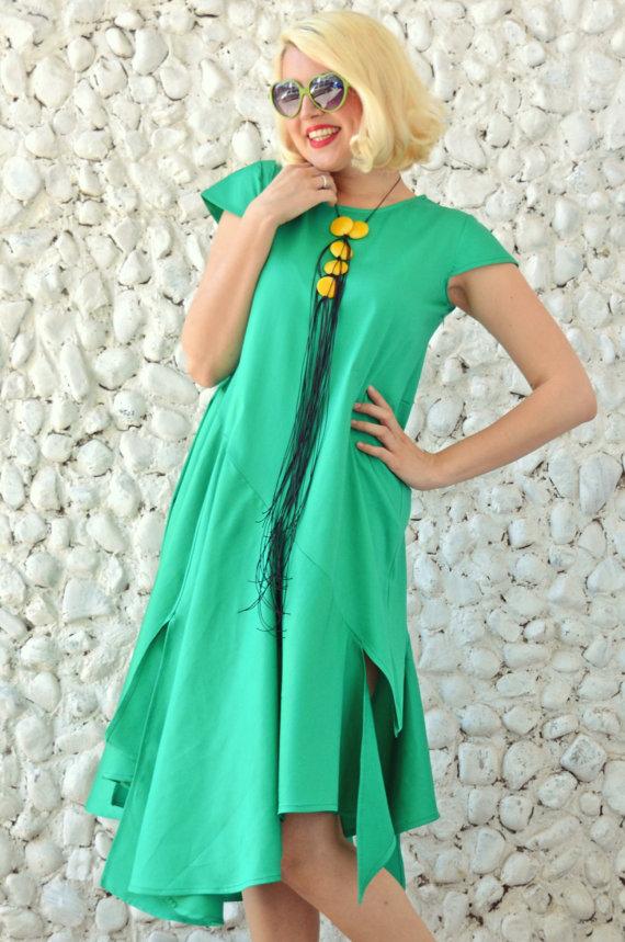 emerald maxi dress