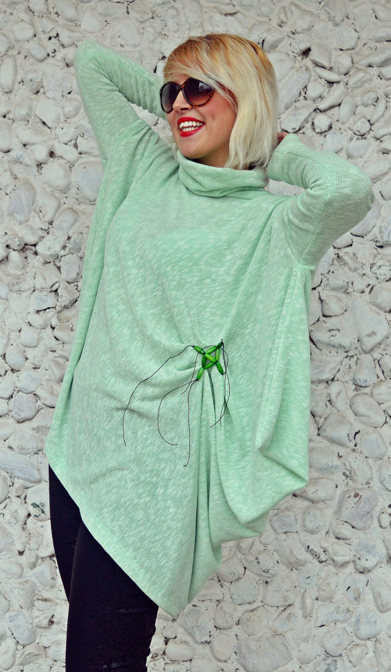 green acrylic sweater