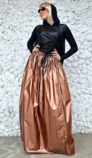bronze maxi skirt