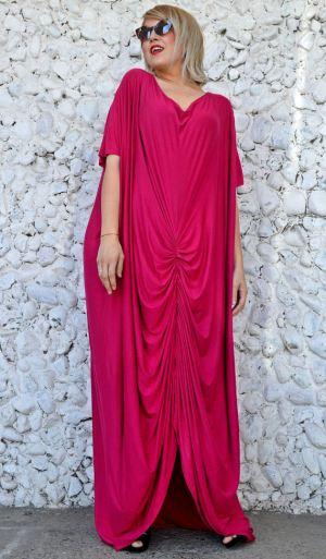 dark fuchsia summer dress