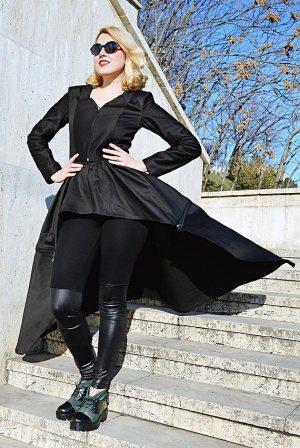 black convertible jacket
