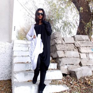 oversize twisted tunic