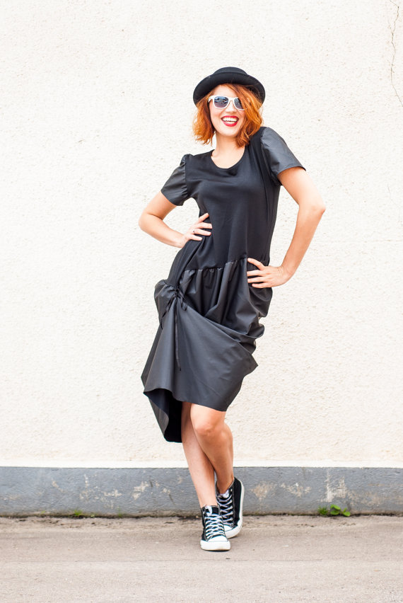 black extravagant dress