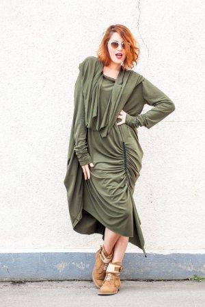 khaki maxi dress