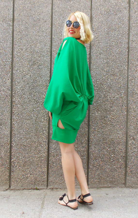 green short dress