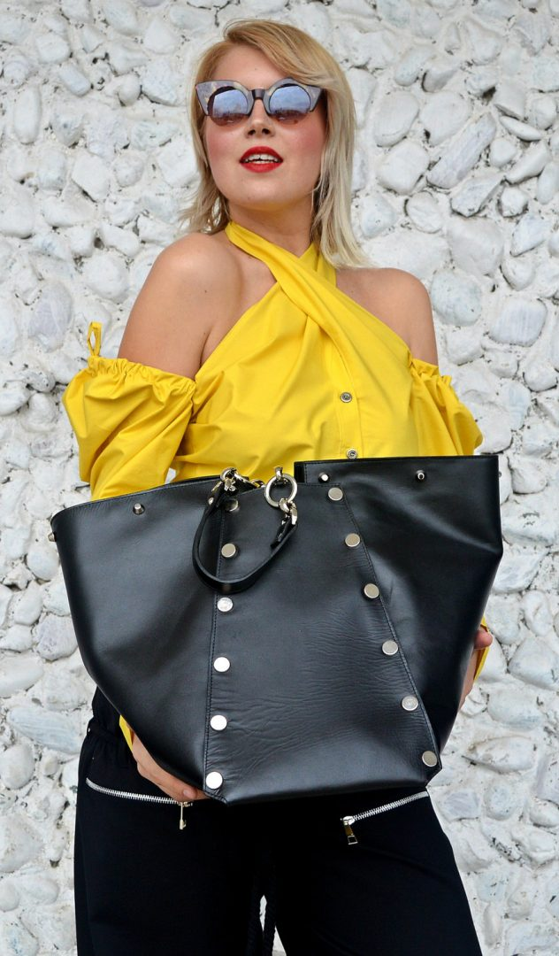 large genuine leather bag