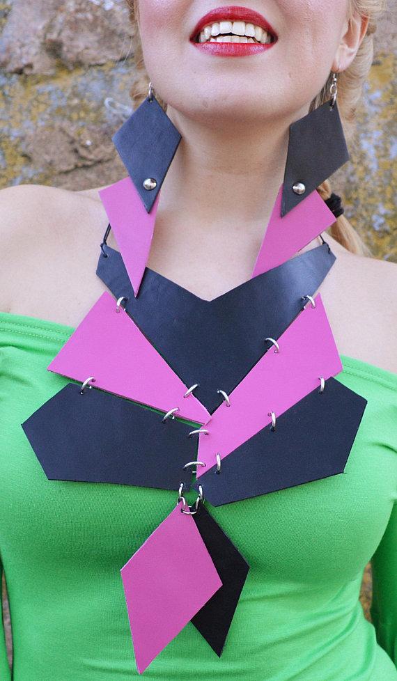 fuchsia necklace