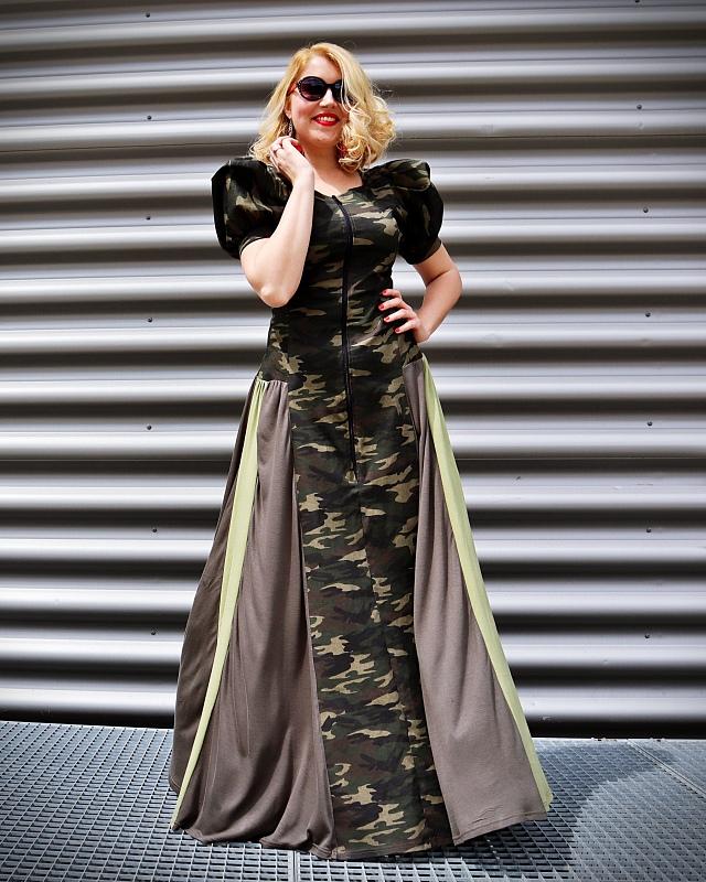 long camo dress