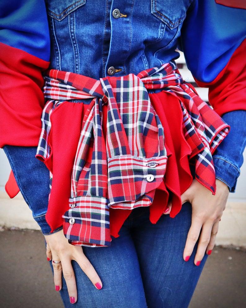 button down jean jacket