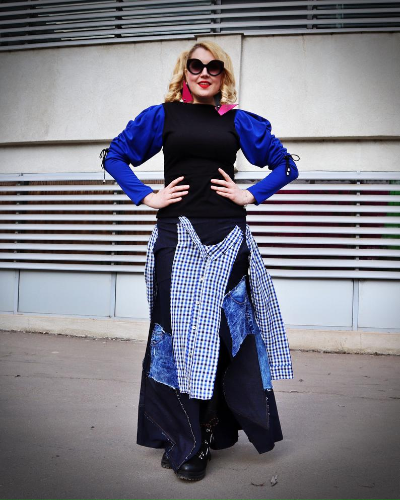 skirt with patches